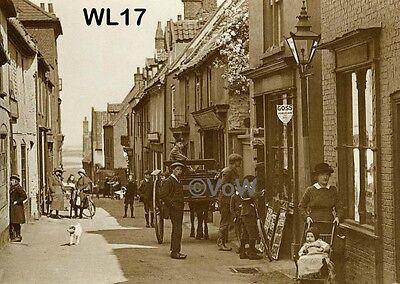 North Norfolk Postcard - Wells next the Sea - Staithe Street - Goss China - WL17