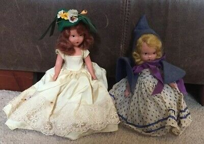 Vintage Nancy Ann Bisque Story Book Doll Lot of 2