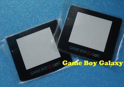 - 2 GLASS SCREENS Nintendo Game Boy Color Replacement Lens Cover SELF-STICK 2x GBC