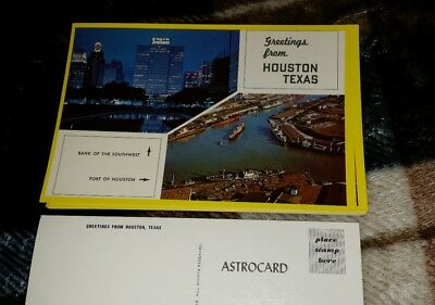 Postcard From Houston  Port Of Houston And Bank Of The Southwest 1960S