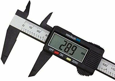 Lcd Digital Caliper Electronic Gauge Carbon Fiber Vernier Micrometer Ruler 6inch