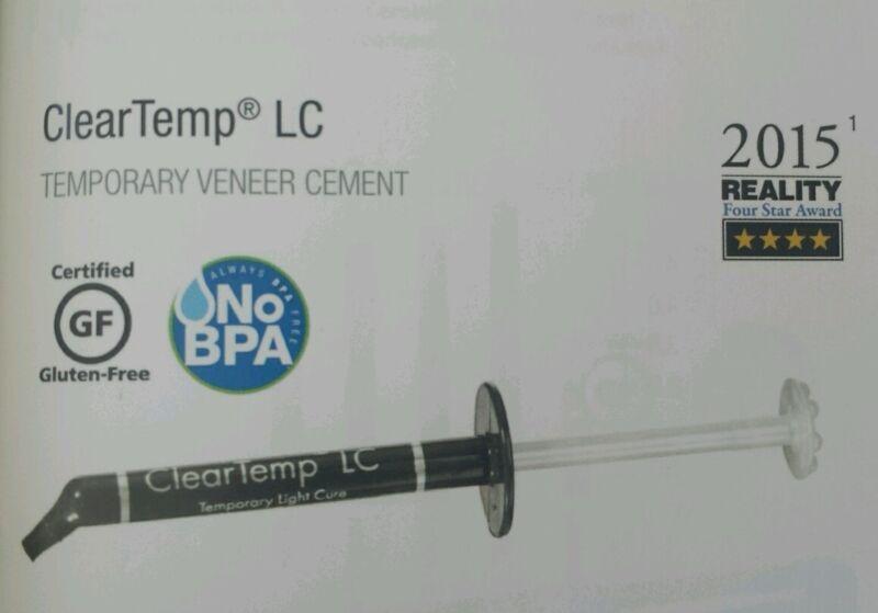 Clear Temp Cleartemp LC Temporary Light Cure Veneer Dental Cement Ultradent