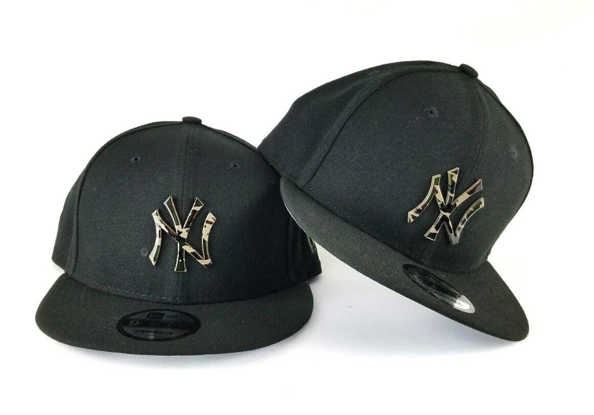 New Era Black New York Yankee Metal Army Camouflage Logo 9Fifty Snapback hat 4aab51b12966