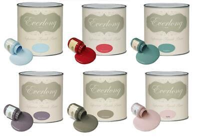 Everlong Sarah Jayne Chalk Paint 1 Litre Matt Finish Chalky Interior furniture