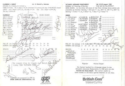 Glamorgan v Surrey 6/8/9 Cricket Scorecard at St Helen's County Champs 18 Sigs