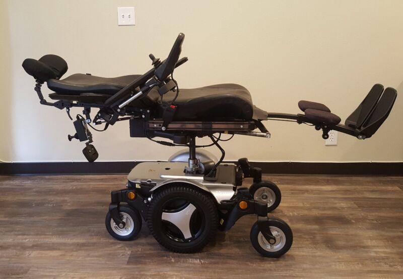 """Permobil M300 Wheelchair Fully Loaded, Power Tilt,recline,legs, 8"""" Lift. Lights!"""