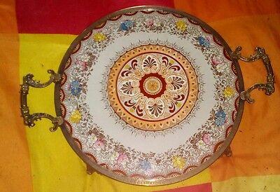 altes Jugendstil Tablett, um 1900 Kuchenplatte, Torten, Servier Platte