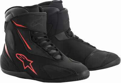 Alpinestars FASTBACK-2 Drystar Leather Riding Shoes (Black/Gray/Red) 12