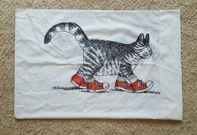 Vintage B Kliban Cat Red Sneakers Tennis Shoes Standard Pillowcase Burlington