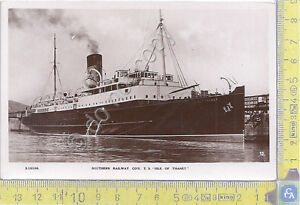 Nave-Ship-Southern-Railways-Isle-of-Thanet-039-50-039-s-Cartolina-Postcard