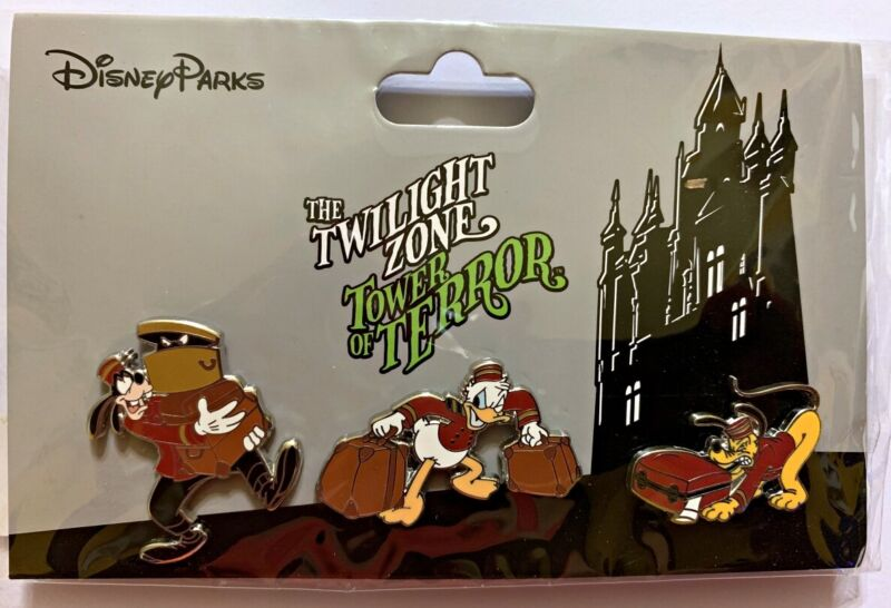 Disney Parks 3 pin set TWILIGHT ZONE TOWER OF TERROR pack - Sealed NEW