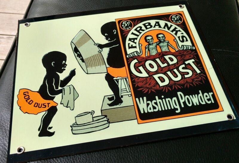 Fairbanks Gold Dust Powder Soap sign ... detergent,  laundry