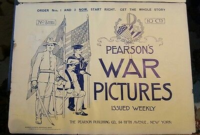 Front  and Back Cover Pearson's Spanish American War Pictures No. 3 1898 Era