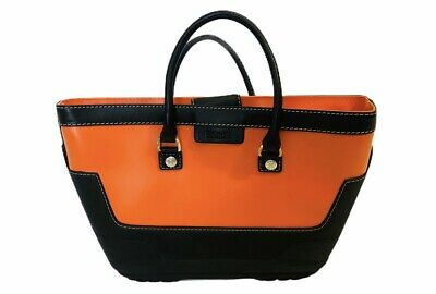 MICHAEL KORS Orange rubber Wellie bag purse