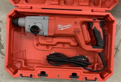 Milwaukee 5262-21 8 Amp Corded 1 Sds Plus Rotary Hammer In Case Great Shape