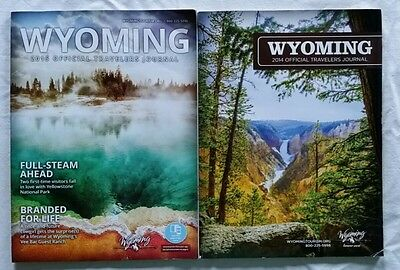 Wyoming Visitor's Guides Tourism Booklets Lot of 2