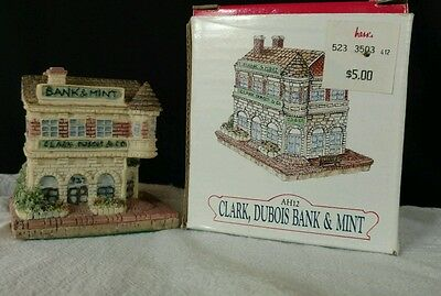 "LIBERTY FALLS AH12 ""CLARK, DUBOIS BANK & MINT"" CHRISTMAS WESTERN VILLAGE FIGURE"