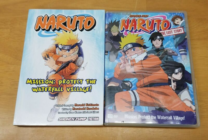 Naruto: Mission: Protect the Waterfall Village! Graphic Novel + DVD Viz Media