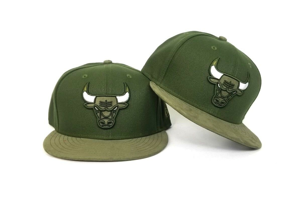 15e5bcff42fba New Era Olive Green Chicago Bulls snapback hat Jordan 12 Chris Paul ...