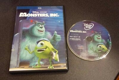 Monsters, Inc. (DVD, 2013) Disney Pixar kids animated movie film Sully Mike