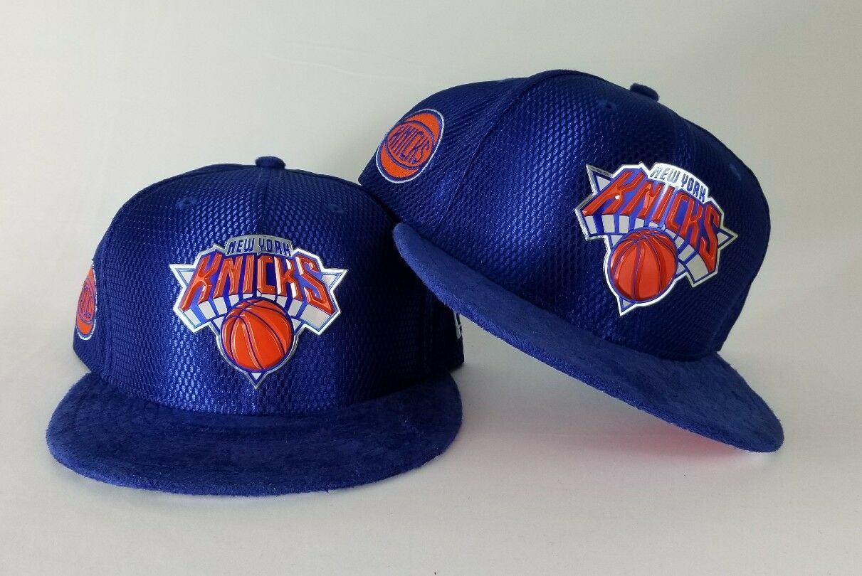 430439cbf1f6d0 NBA Draft Royal Blue New Era New York Knicks 9Fifty Snapback Hat