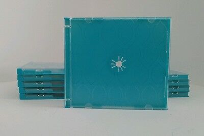 10 Staples Designer Blue Jewel Cases For CDs Or DVDs Cd Jewel Case Design