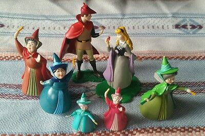 7 Vintage Disney Sleeping Beauty figures