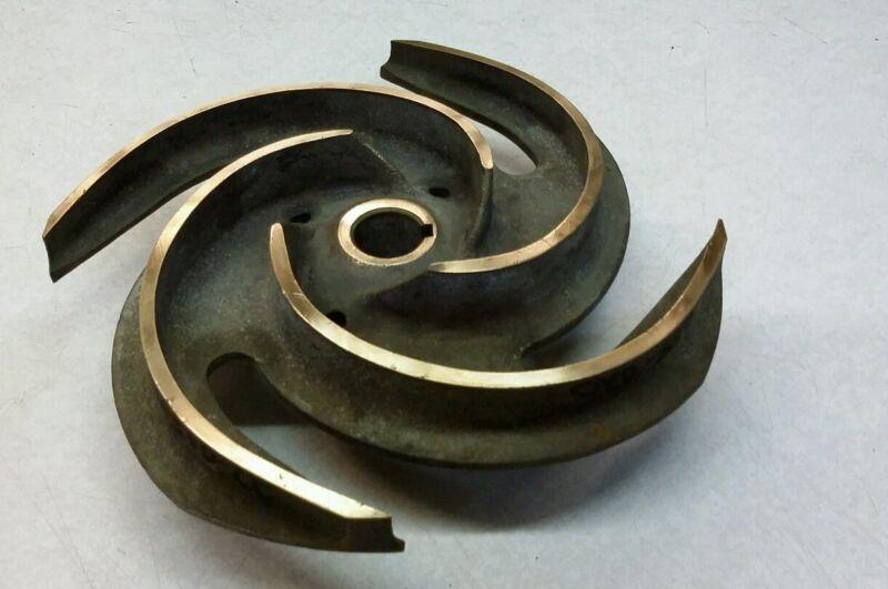 "Brass Impeller 20RVL3BX3 -165 OD= 11"" Bore 1 1/8"" Keyway 5/16"""