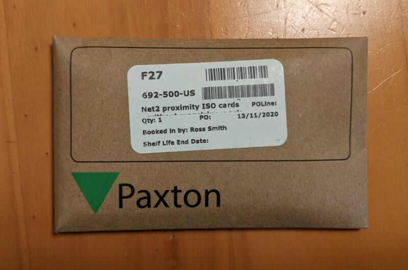 Paxton Access 692-500-USNet2 Proximity ISO cards – without magstripe. (10 Pack)