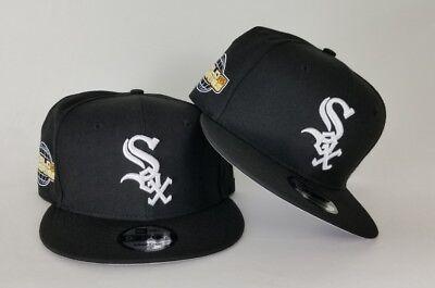 New Era Black Chicago White Sox 2005 World Series Side Patch Snapback Hat  (World Series 2005)