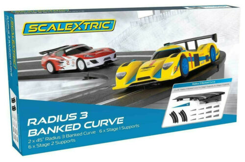 Scalextric Radius 3 Banked Curve 1/32 Slot Car Track C8297