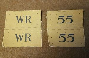 Home Guard Set (Any Letter or Number) repro printed badges WWII for Battledress