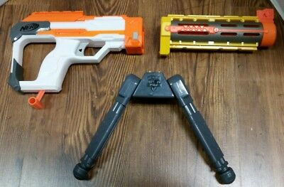 Nerf Elite Modulus Gun Shoulder Stock, extend Silencer, & Bipod attachments