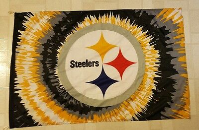 Pittsburgh Steelers Flag 42 X 28 Inches, Tie Dye Pattern
