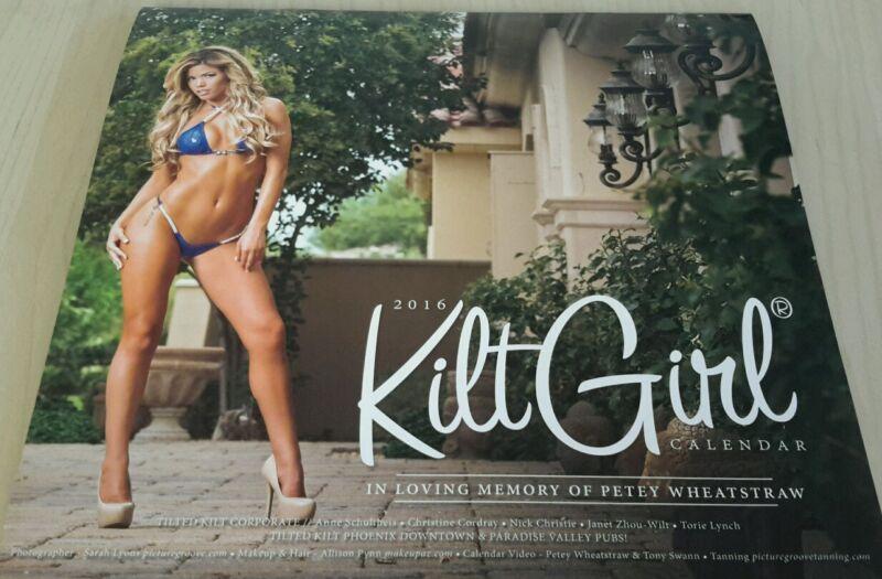 Brand New Sealed 2016 Tilted Kilt Girls Wall Calendar Sexy Bikinis - Huge Boobs!