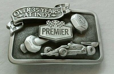 PREMIER HIGH PERFORMANCE FASTENERS INDIANAPOLIS RACING AUTOMOTIVE BELT BUCKLE ()