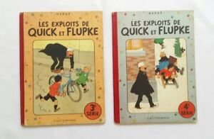 Lot-BD-Quick-et-Flupke-3-4-B3-B4-1949-1950-EO-COULEUR-HERGE-CASTERMAN