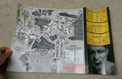 Kings Dominion Halloween Haunt 2015 Theme Park Map - Roller Coaster Amusement  - Kings Dominion Halloween