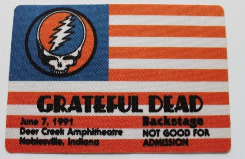 Grateful Dead Backstage Pass 6-7-91 Deer Creek Amphitheatre Indiana