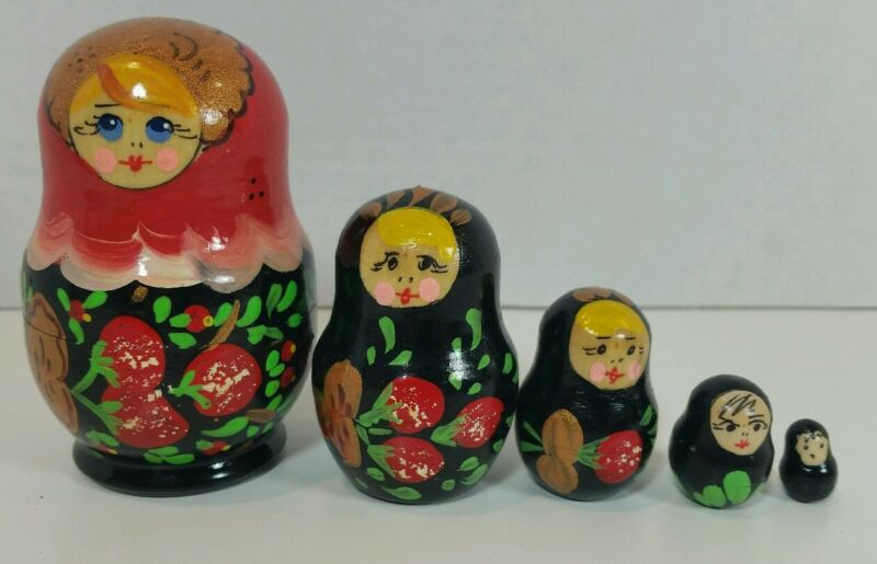 Authentic Russian Matryoshka Nesting Doll Set of