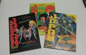 Lotto-3-albi-Japan-Magazine-n-1-4-e-5-con-adesivi