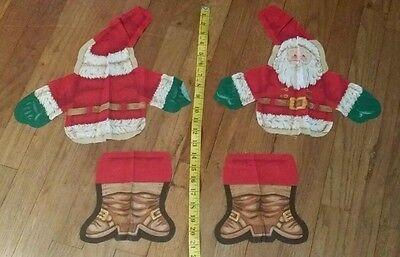 CHRISTMAS - SANTA CLAUS Screen Print - CUT-OUT - Makes a SANTA Doll Pillow!