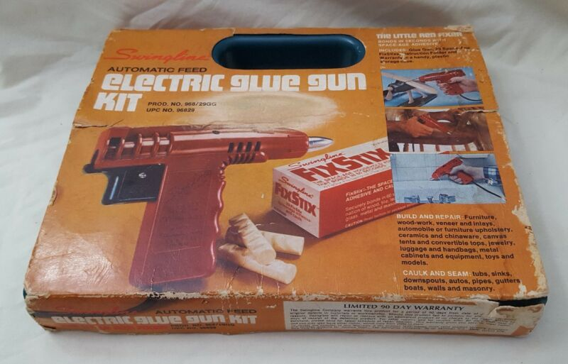 Vintage Swingline Automatic Feed Electric Glue Gun Kit the little red fixer prop