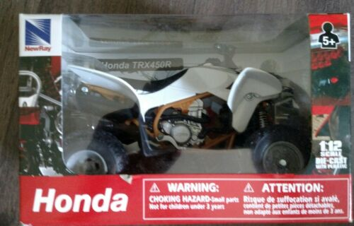 New Ray Toys Honda TRX 450R 2012 ATV Toy 1:12 Scale White 57473