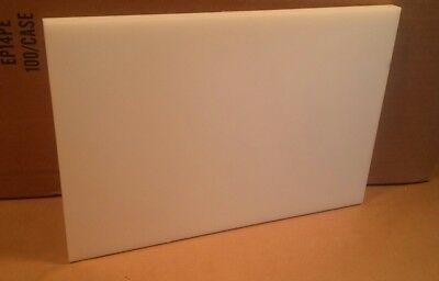12 Delrin Block Natural Acetal Sheet 6.5x12 Cnc Millstock Plastic 3822