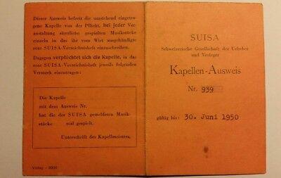 Suisa Kapellen-Ausweis (aus dem Jahre 1949), Trio Nino