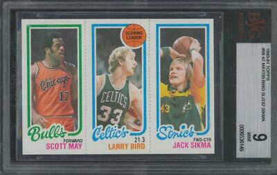 1980 Topps #98 May Larry Bird Sikma RC Rookie Mint BGS 9