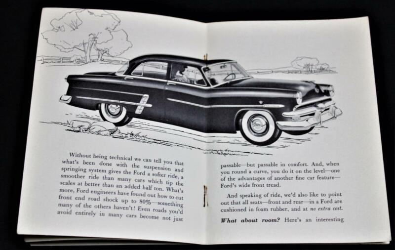 1953 FORD AUTOMOBILE CAR ADVERTISING SALES BROCHURE GUIDE VINTAGE