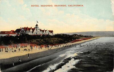 - HOTEL REDONDO Redondo, CA Balloon Route Excursion ca 1910s Vintage Postcard