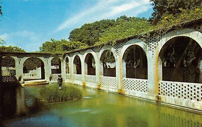 SC, South Carolina  BROOKGREEN GARDENS  Pool~Brick Wall  GEORGETOWN CO  Postcard - South Carolina Pool